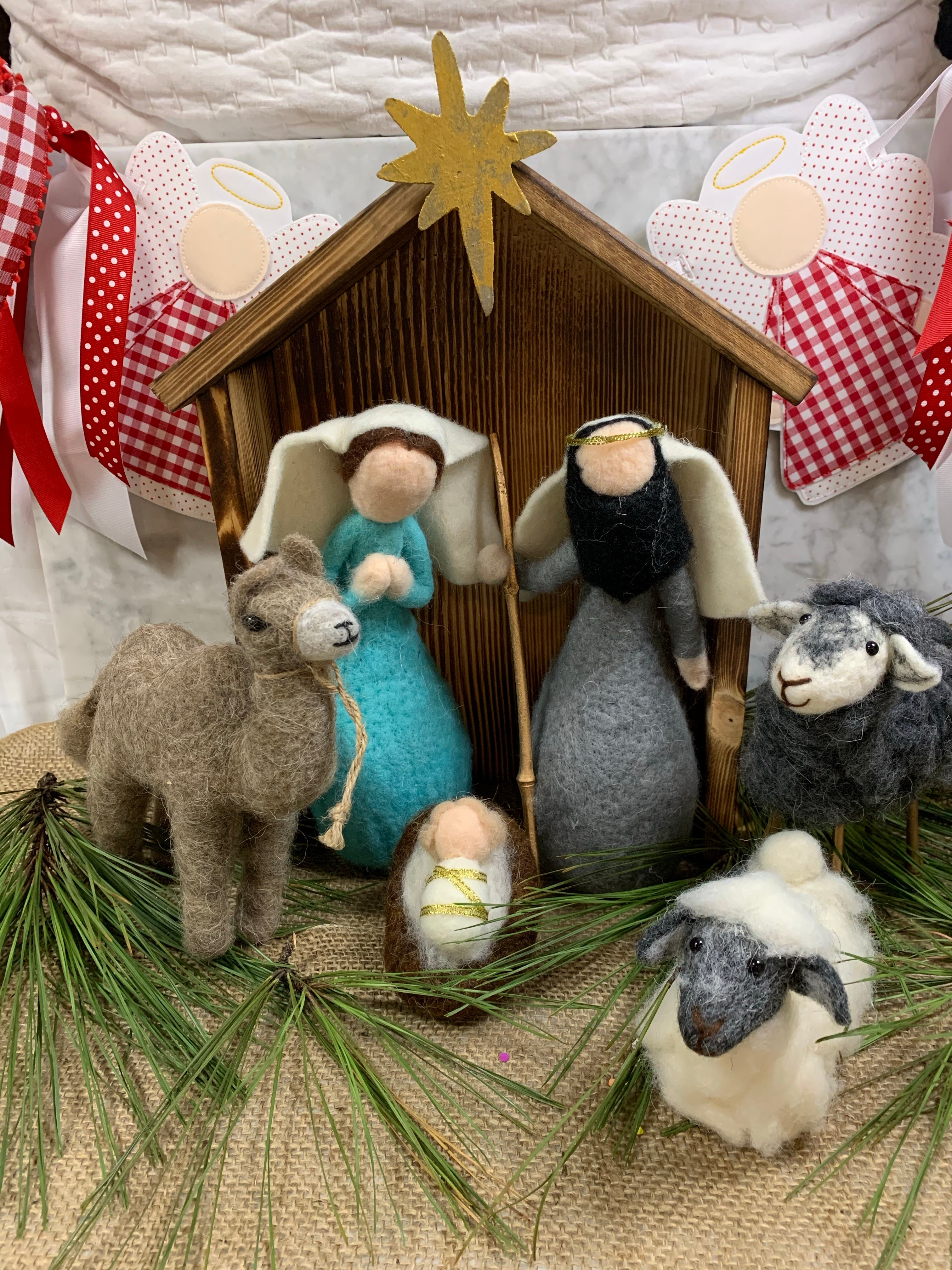 XL Felt Nativity Set