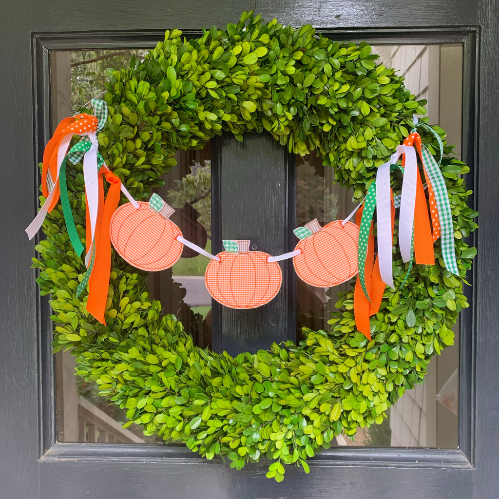 Pumpkin Wreath Banner