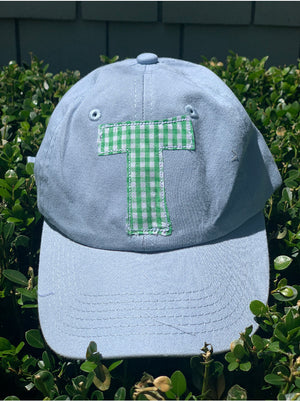 Light blue SINGLE Initial Hat