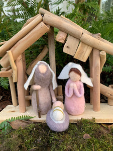 Pink Felt Mini Nativity Set