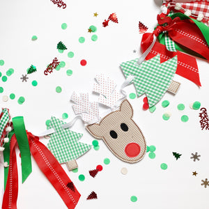 Rudolph Wreath/small Banner