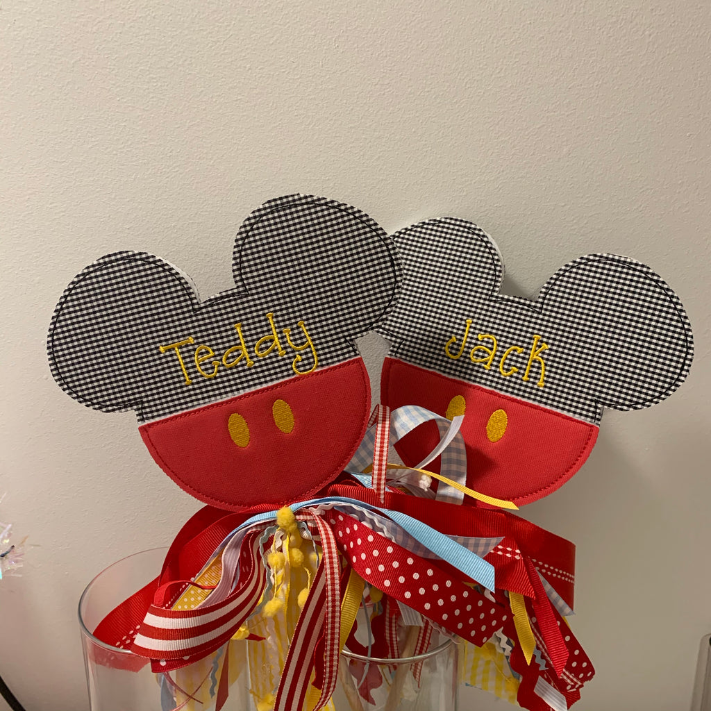 Mickey and Minnie Wands Personalized