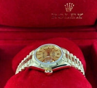 Rolex 26MM Lady President Datejust 18 Karat Yellow Gold Watch Ref # 69278 Bark