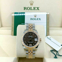 Rolex 31MM Lady Datejust 18K Rose Gold Steel Watch Ref # 178271 Factory Dial