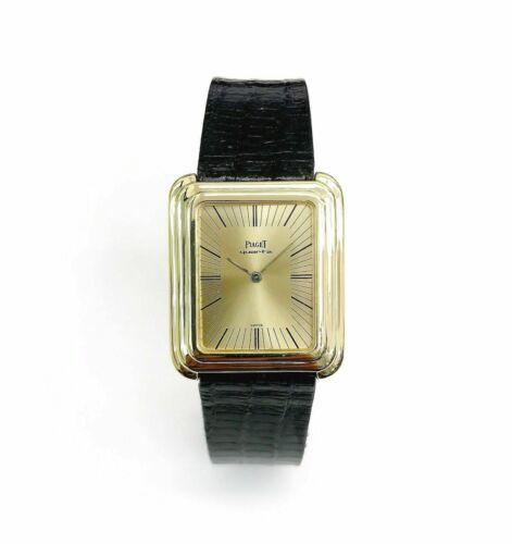 Vintage Piaget Protocole Solid 18 Karat Yellow Gold Quartz Watch 30 x 26MM