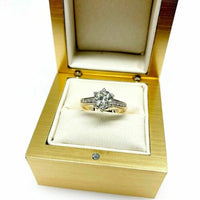 Antique 1.14 Carats t.w. Old European Diamond Wedding/Engagement Ring 1960's