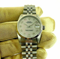 Rolex 31MM Jubilee Datejust Watch 18K Gold/Stainless Ref # 68275 Factory Dial