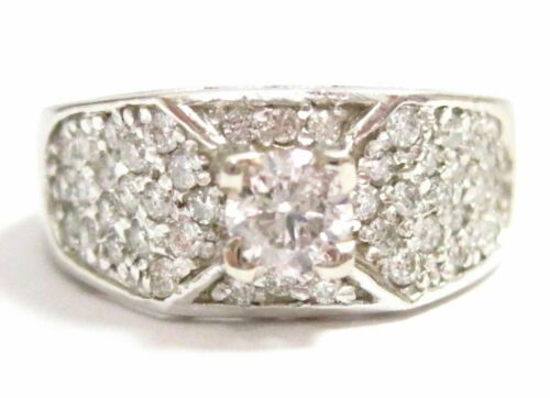 .95TCW Round Brilliant Cut Diamond Anniversary Ring G SI2 Size 6.5 14kWhite Gold