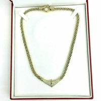 2.25 Carats t.w. Pear Baguette and Round Diamond Dinner Necklace 18K Gold