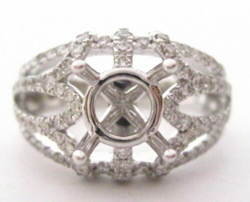 4 Prongs Semi-Mounting for Round Cut Diamond Ring Engagement 18k W/G G-VS2