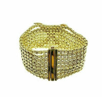 Estate 2.20 Carats David Yurman Diamond X Bracelet Solid 18K Gold 1.25 Inch Wide