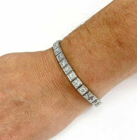 $27,500 Retail Antique Art Deco Bracelet 8.55 Carats E- F Old Euro Diamonds Plat