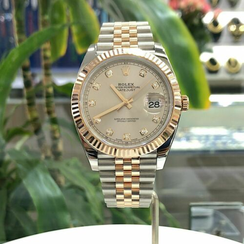 Rolex 41MM Datejust Watch 18K Rose Gold Stainless Steel Ref 126331 Circa 2017