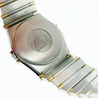 Omega Constellation Solid 18 Karat Yellow Gold/Stainless Watch 33MM Quartz