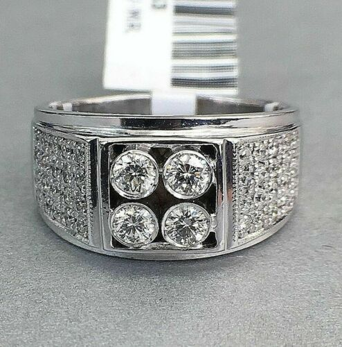 0.85 Carat t.w. Diamond Mens Ring 14K Gold 7.9 Grams
