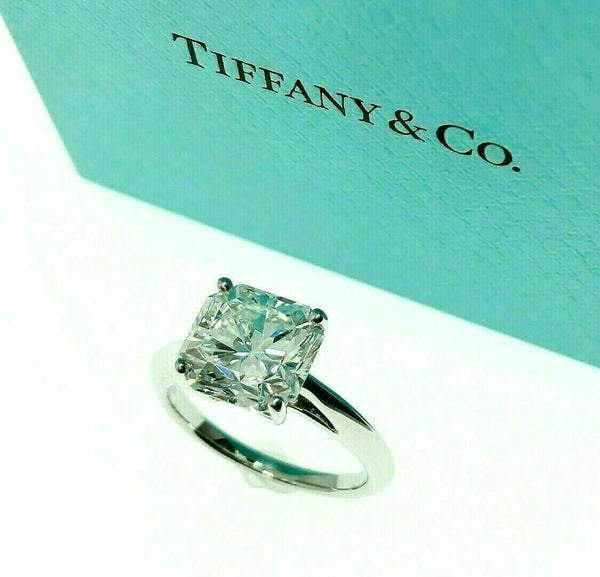 Tiffany & Co. Lucida Diamond 3.54 Carats F VS1 Platinum Solitaire Wedding Ring