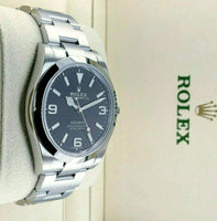 Rolex 39MM 3-6-9Lume Explorer Oyster Watch Stainless Steel Ref #214270 Box Card