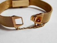 Vintage Women's Baume & Mercier Belt Ribbon Diamond Dress Watch 14k Yellow Gold