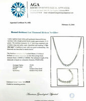 9.10 Carats t.w. F -G Color VS Diamond Riviera/Tennis Necklace 18K White Gold