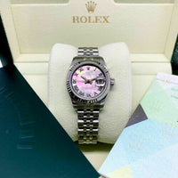 Rolex 26MM Lady Datejust 18 Karat Gold Stainless MOP Ref # 179174 Box Papers