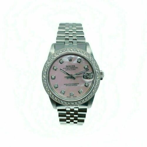 Rolex Lady 31MM Datejust Watch Stainless Steel Ref 68240 Diamond Dial and Bezel