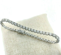 8.80 Carats t.w. Diamond Tennis Bracelet 14K White Gold G - H VS Round Diamonds