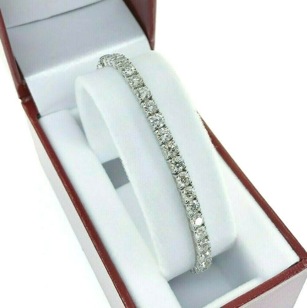 9.33 Carats t.w. Round Diamond Tennis Bracelet 14K White Gold G- H Color