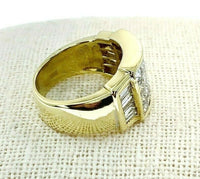 4.02 Carats t.w. Invisible Set Diamond Anniversary/Wedding Ring 18K Yellow Gold