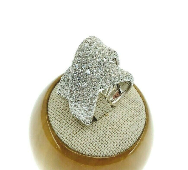 3.99 Carat t.w Intertwined Diamond Pave Wedding/Anniversary Ring 18K White Gold