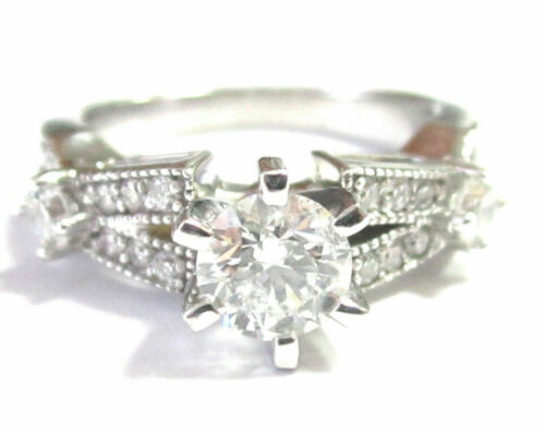 Round Brilliant Cut Diamond Designer-Inspired Engagement Ring