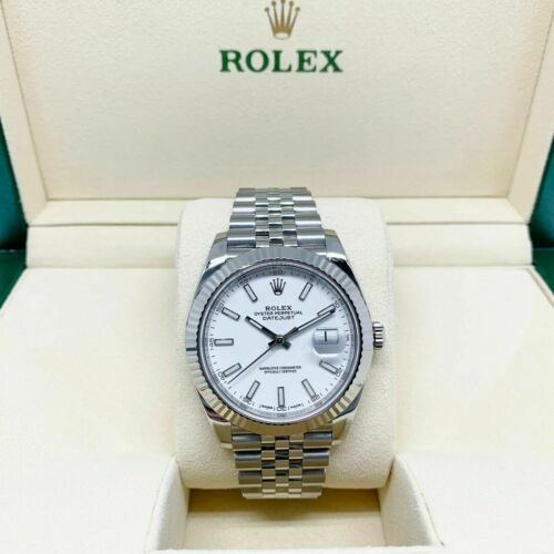 Rolex 41MM Jubilee Datejust Watch 18K Gold/Stainless Ref # 126334 2016 WhiteDial