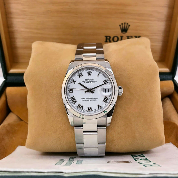 Rolex 31MM Lady's Datejust Oyster Watch Stainless Steel Ref # 78240 Box Papers