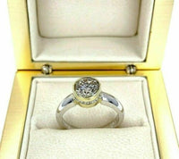 1.56 Carats tw Round Diamond Solitaire Wedding/Engagement Ring 18K 2 tone Gold