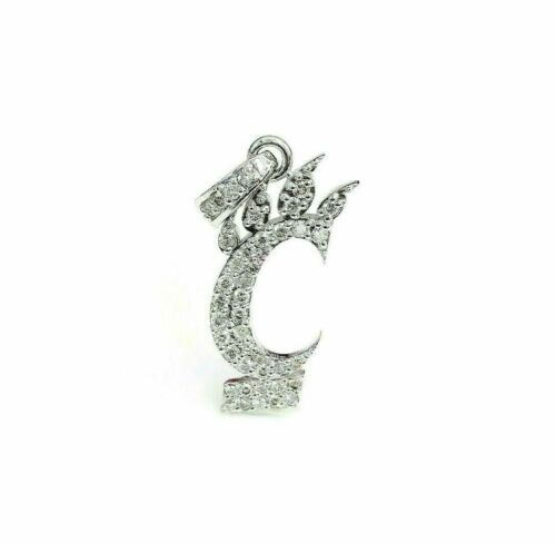0.85 Carat Custom Made 18K Gold Cincinnati Bearcats Diamond Pendant