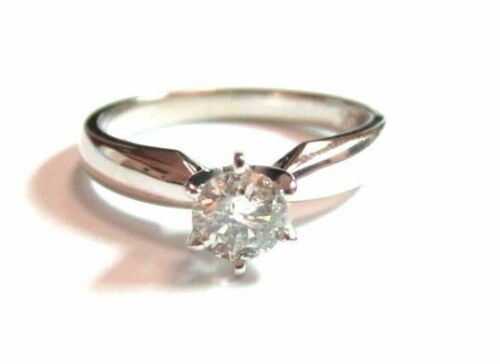 .41ct Round Brilliant Cut Diamond Solitaire Engagement Ring I-SI2 Size 5.5