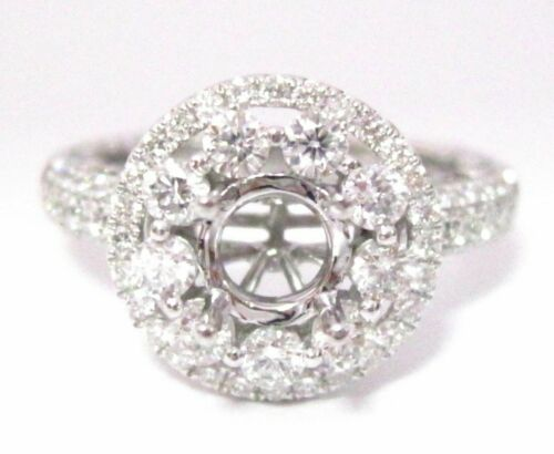 4 Prong Semi-Mounting Engagement Ring for Round Brilliant Cut Diamond or Gem 18k