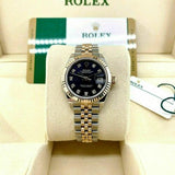Rolex 28MM Lady Datejust 18K Rose Gold Steel Watch Ref # 279171 Factory Dial