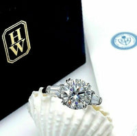 Original Harry Winston 4.10ct Round GIA D VVS1 Platinum Engagement Ring
