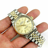 Rolex 36MM Two Tone Datejust 14K Yellow Gold Steel Watch Ref # 16013 QSet 1979
