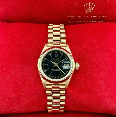 Rolex 26MM Lady President Datejust 18 Karat Yellow Gold Watch Ref # 69178 1990