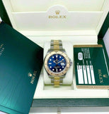 Rolex 40 MM Mens Yacht Master 18K Gold and Steel Watch Ref # 16623 Box and Card