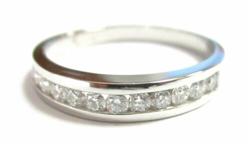 .50 TCW Round Diamond Anniversary 1/2 Ring/Band Size 7.5 G VS2 14k White Gold