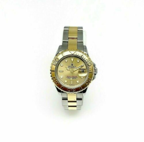 Rolex 29MM Lady YachtMaster 18K Yellow Gold Steel Watch Ref # 169623 Quick Set