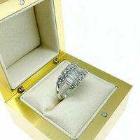 1.52 Carat t.w. Bypass Rd Baguette Diamond Celebration/Anniversary Ring 18K Gold