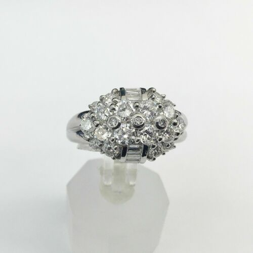 1.86 Carats t.w. Platinum and Diamond Anniversary Ring E-F Color VVS Clarity