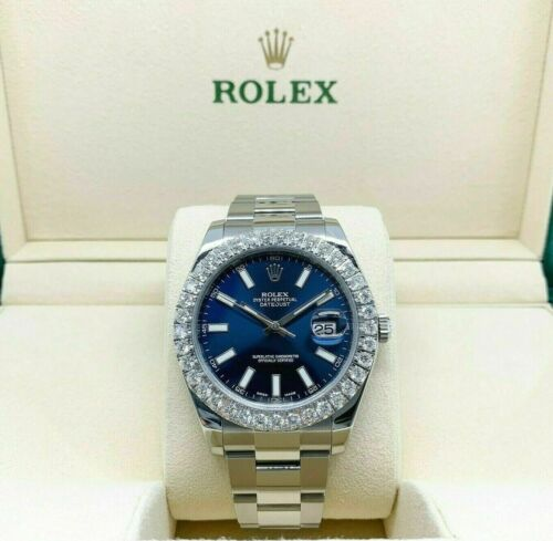 Rolex 41MM Datejust II Watch Stainless Steel Oyster Diamond Bezel Ref # 116300