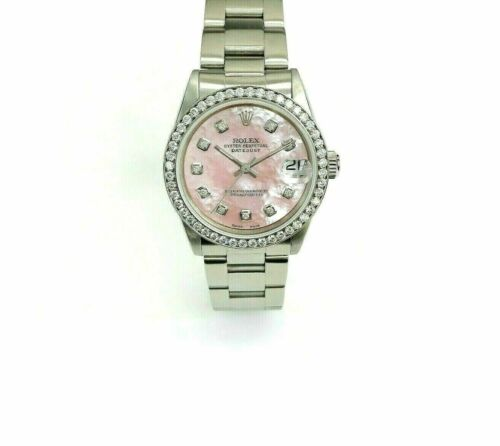 Rolex 31MM Lady Datejust Watch Stainless Steel Ref 68274 Diamond Dial and Bezel