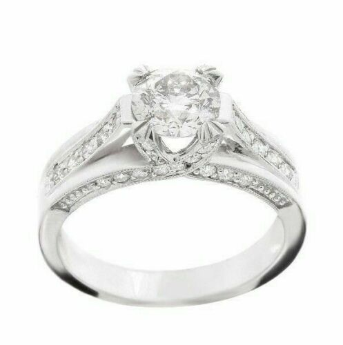 Modern Antique Round Cut Diamond Engagement Anniversary Ring EGL Certified