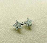 0.81 Carats t.w. Star Diamond Stud Earrings Made with Special Cut Kite Diamonds