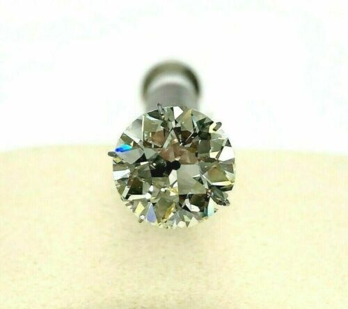 Loose 5.66 Carats GIA S - T VS2 Antique Old European Brilliant Cut Diamond
